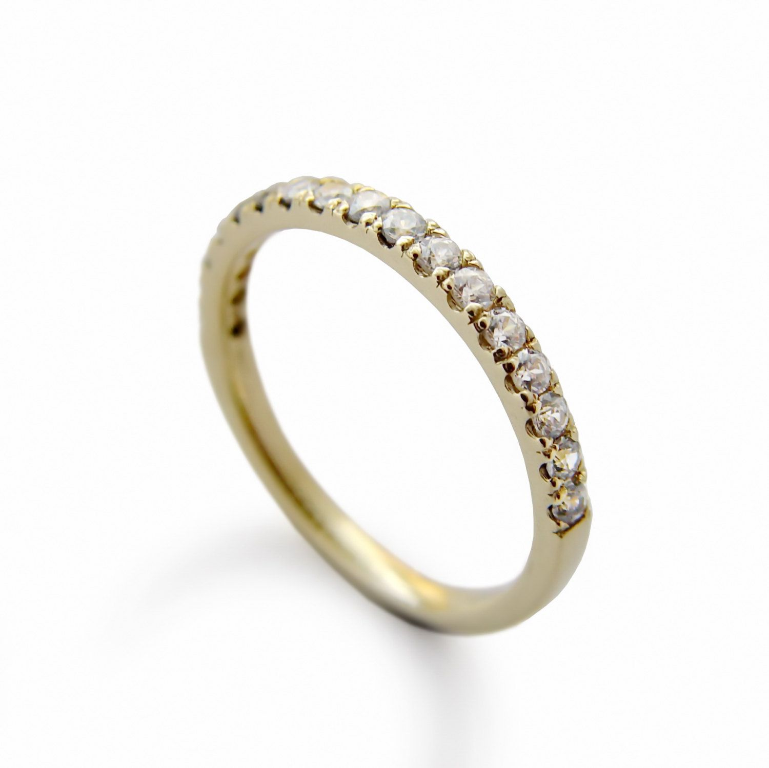 gold round wedding ladies wh ring diamond rings thin