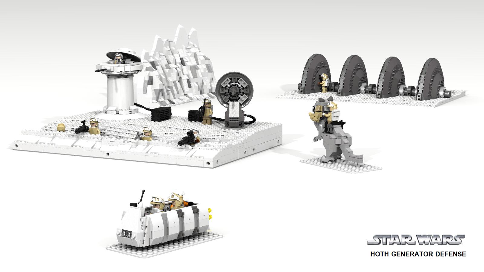 Hoth Generator Defense Legobitar Lego Star Wars Lego Och Star Wars