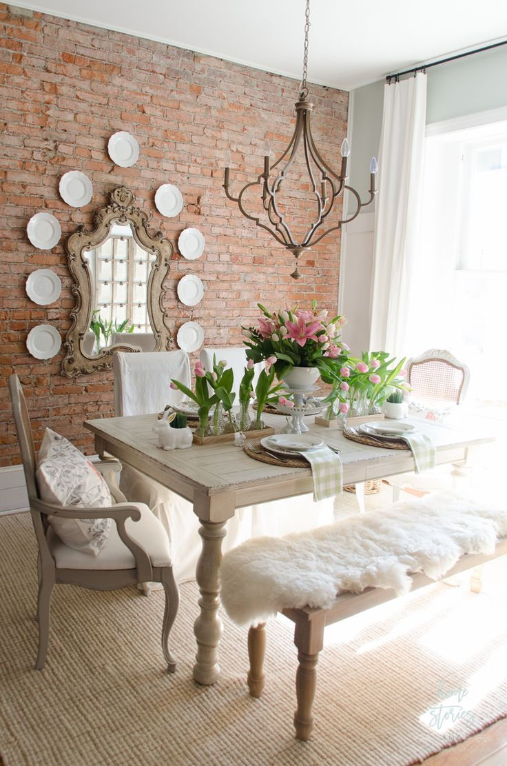 Spring Dining Room Decor Easter Table Shabby Chic
