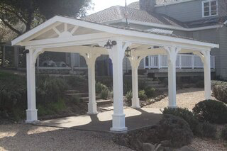 Pressure Treated Pine Gabled Roof Pavilion Pergola Gazebo Pergola With Roof