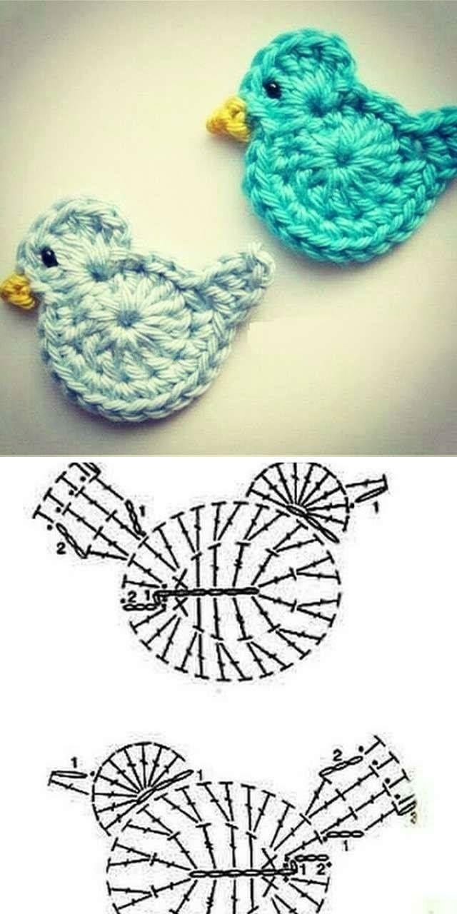 medium resolution of crochet a little bird einen kleinen vogel h keln
