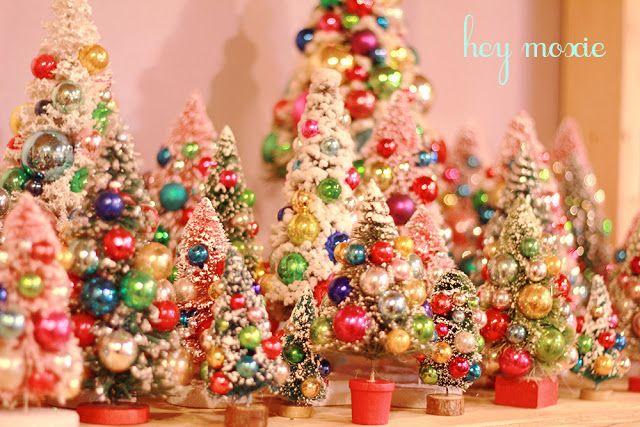 Hey Moxie Vintage Bottle Brush Christmas Trees Bottle Brush Christmas Trees Christmas Tree Christmas Decorations