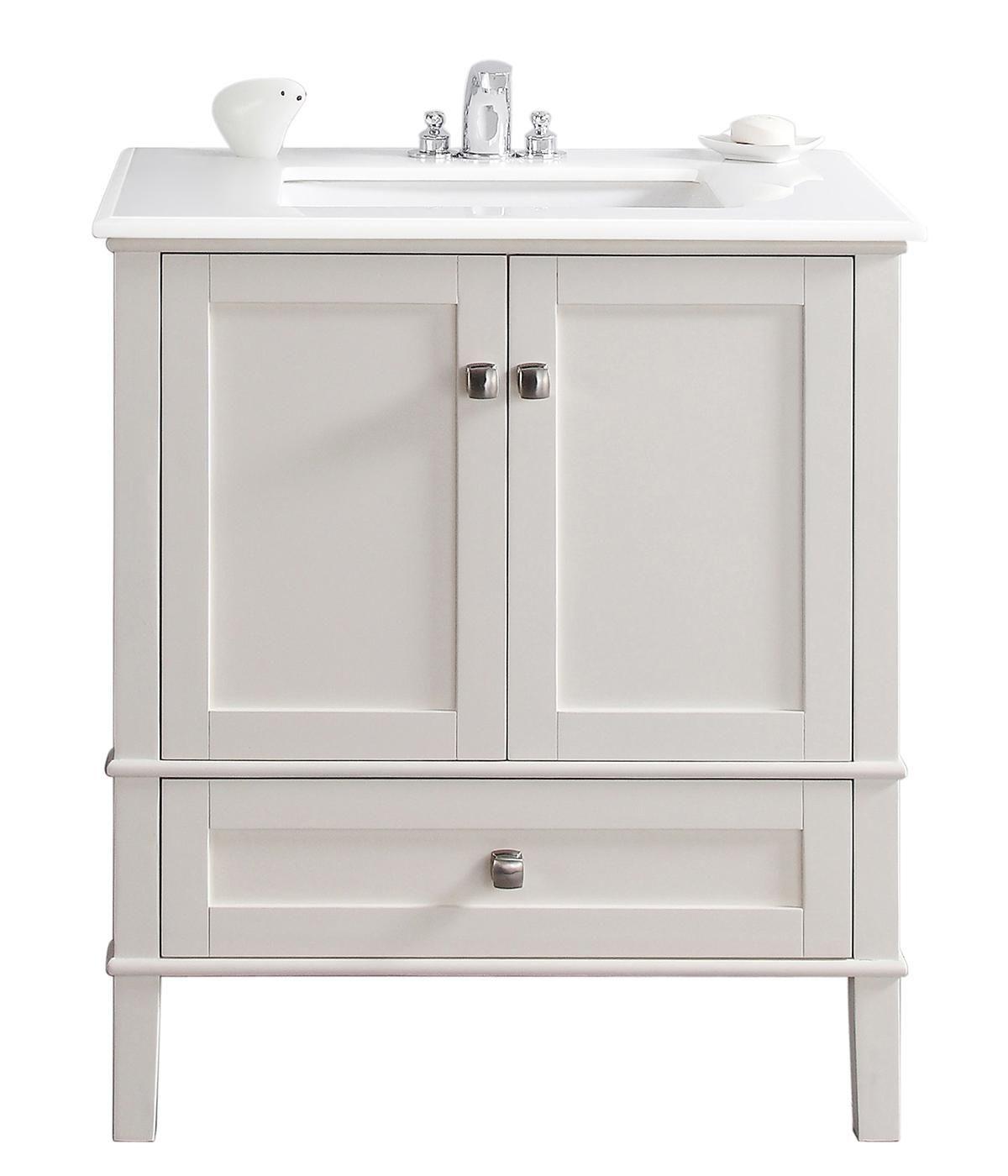 Simpli home chelsea 31 bath vanity soft white bathroom vanities amazon com