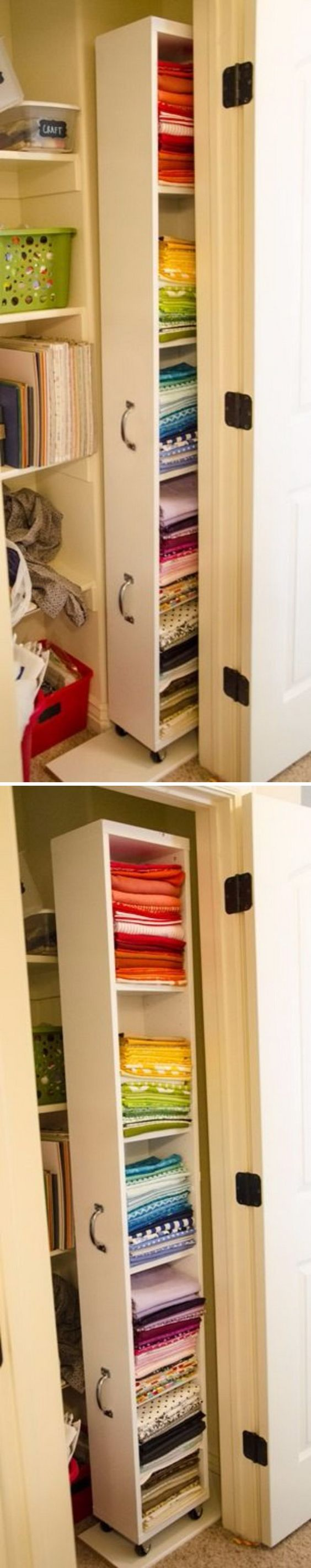 Beau Create More Space To Your Closet With This IKEA Billy Hack Rolling Closet  Organizer.