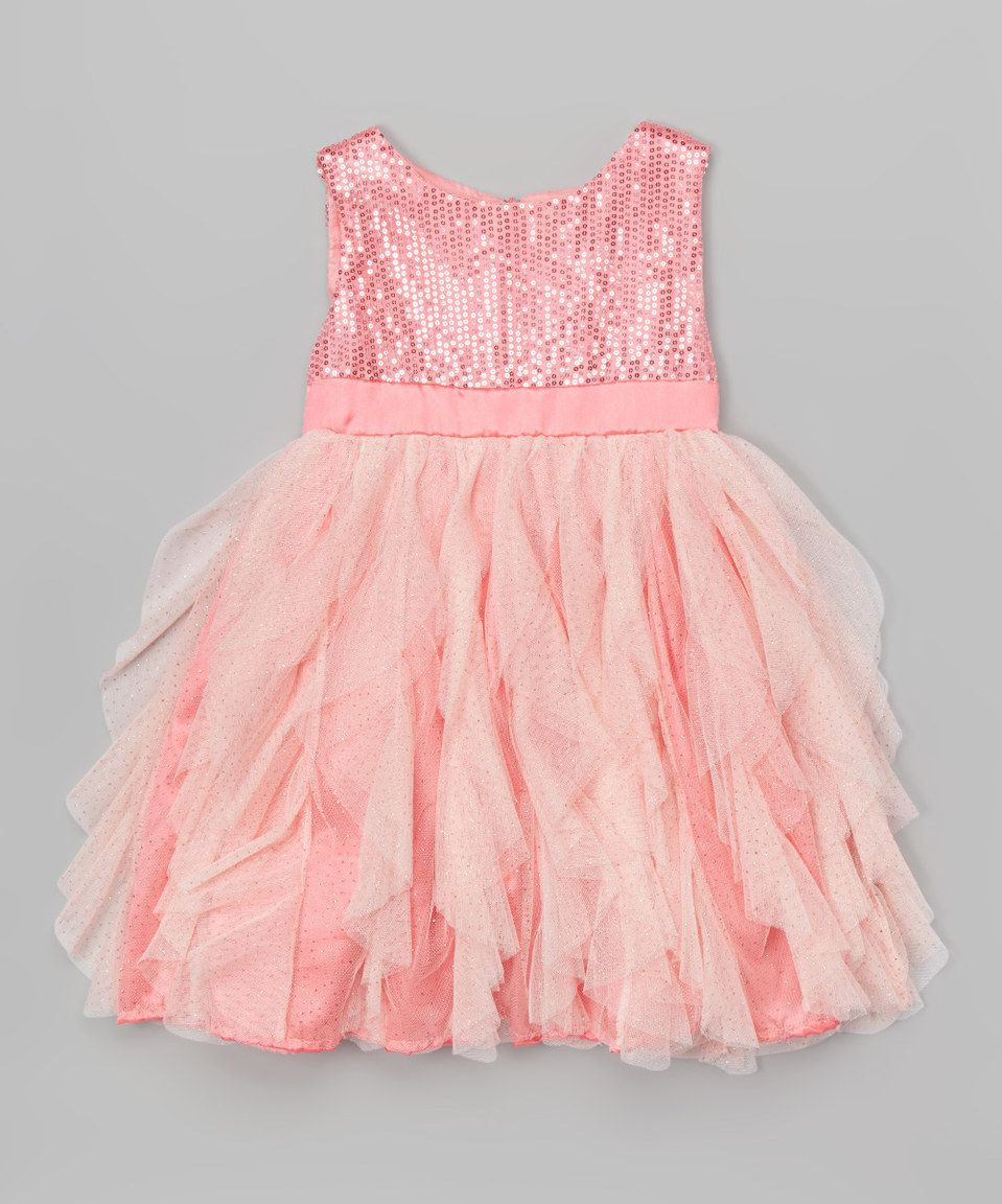 7a78b577abe3 Look at this  zulilyfind! Pink Sequin Overlay Dress - Toddler ...