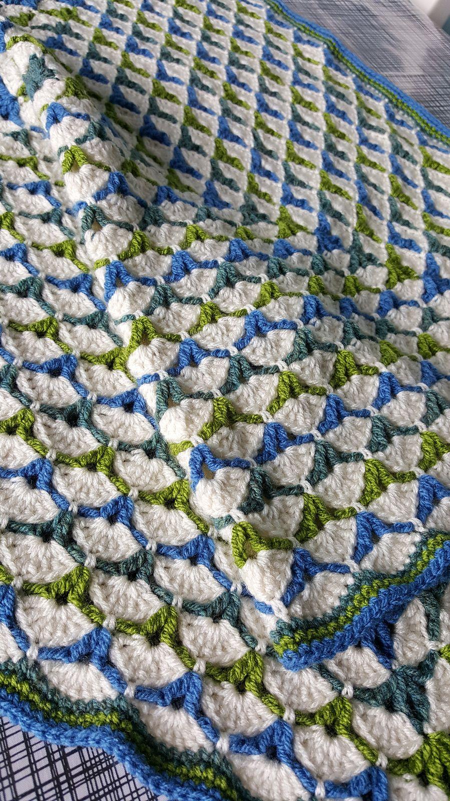 Beautiful Shells Blanket Pattern By Lahoma Jayne Nally Crochet