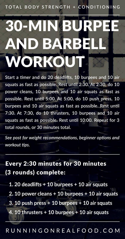 30-Min Barbell Burpee Workout