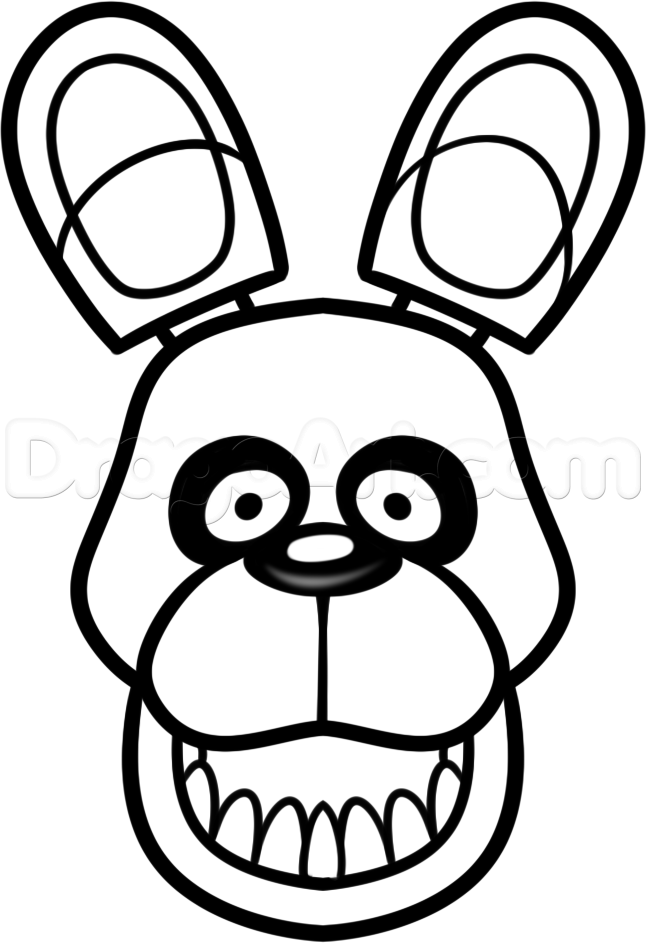Bonnie How To Draw Easy Fnaf Coloring Pages Bunny Coloring Pages Fnaf Drawings