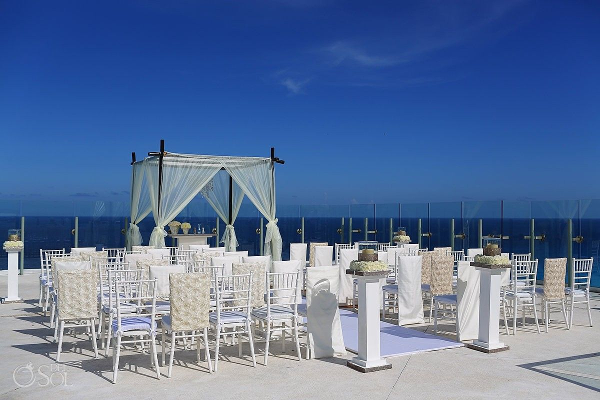 cancun wedding at beach palace the sky terrace is a fantastic venue for a ceremony