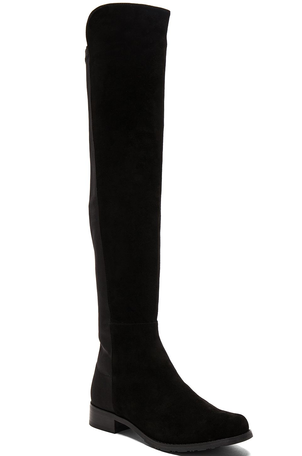 a4bbbabe68a Tony Bianco Panache Boot in Black Kid Suede & Black Micro Stretch ...