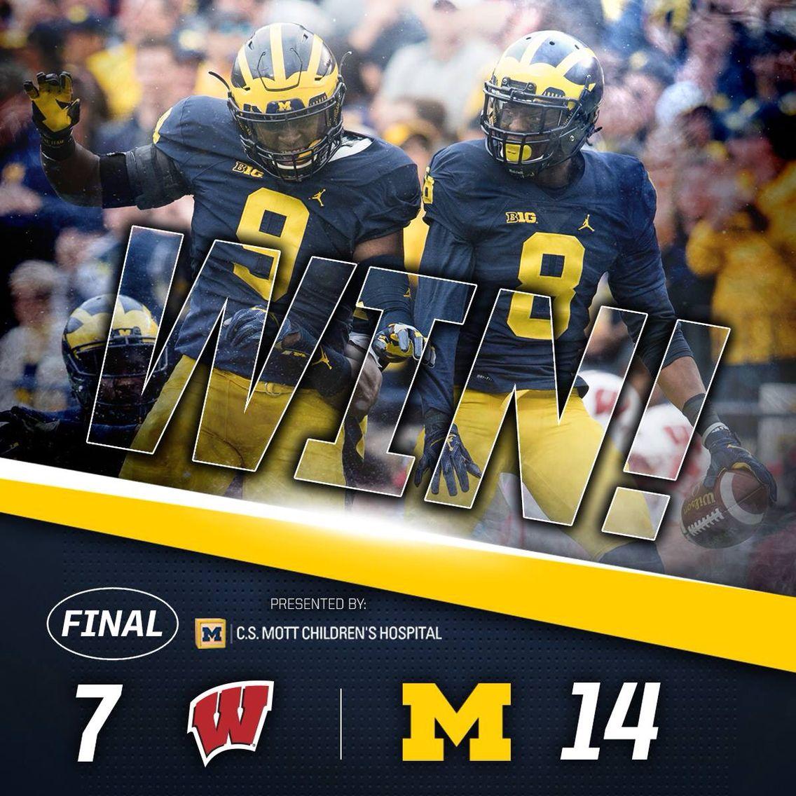 Michigan beats #8 Wisconsin! Go Blue!