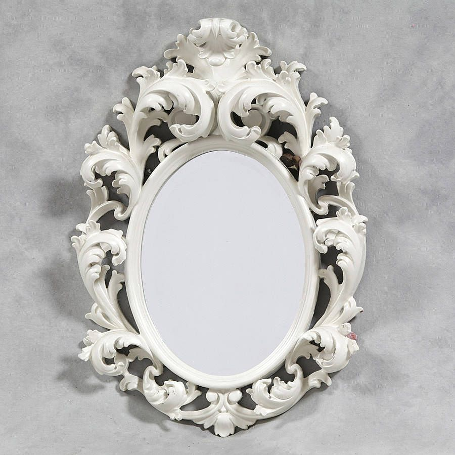 white oval rococo mirror by out there interiors | notonthehighstreet ...