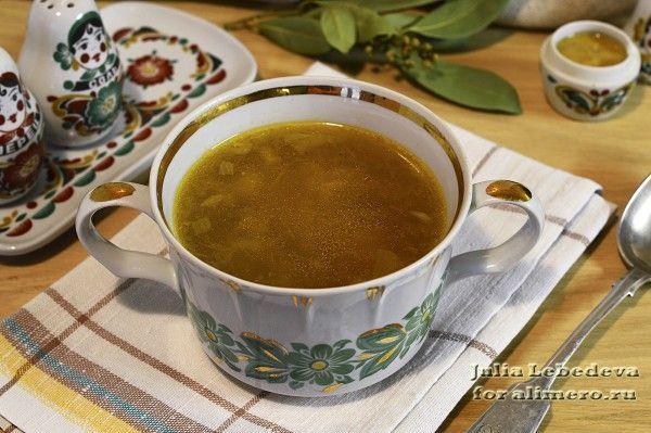 Суп с опятами и вермишелью | Супы