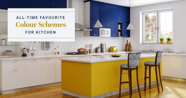 8 Colour Schemes For Indian Kitchens Kitchen Cost Yellow