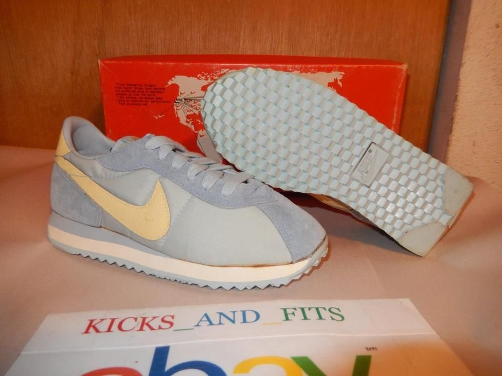 VTG OG 1982 Nike Women's Lady Carib Running Shoes NOS size 5 w/Map Box