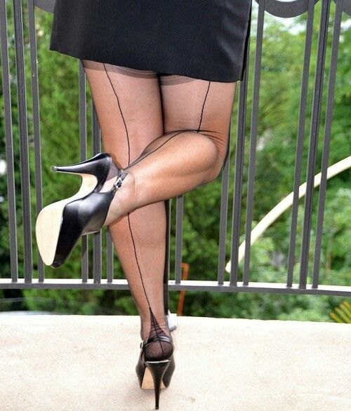 Public stockings in Before you