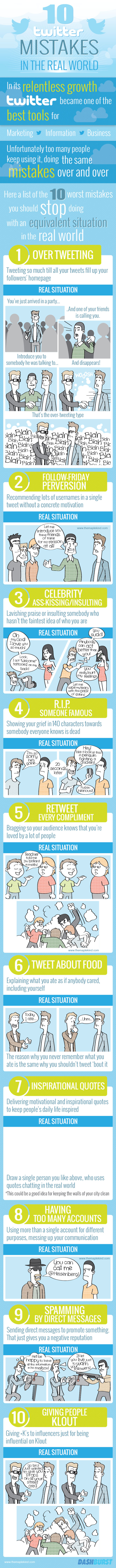 10 Twitter Mistakes To Avoid in Real World [INFOCOMIC]