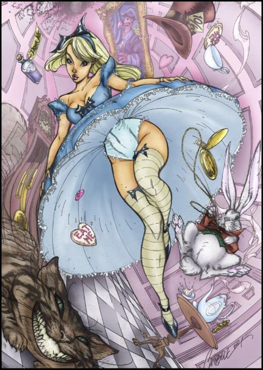 J Scott Campbell Alice Alice In Wonderland Sketch