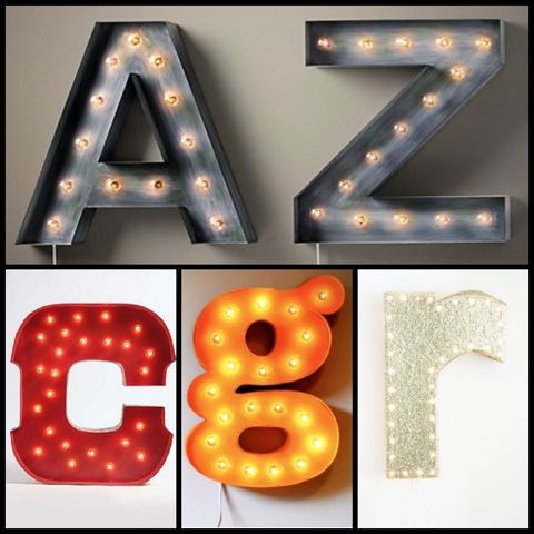 poca cosa: Marquee letter lights
