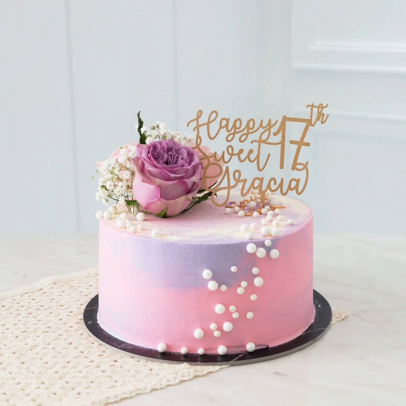 Swell 30 Awesome Image Of Flowers Birthday Cake With Images Funny Birthday Cards Online Alyptdamsfinfo