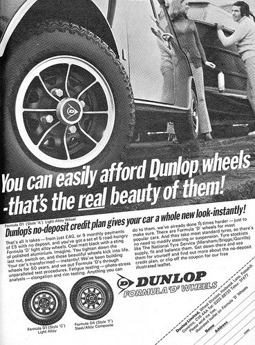 Dunlop Formula D Wheels Ad 1971 Car Wheels Rims Car Wheels Car