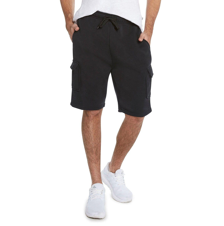 Men S Casual Soft Fleece Cargo Shorts Black Ct17yu4lml2 Cargo Shorts Men Casual Cargo Shorts Men [ 1500 x 1484 Pixel ]