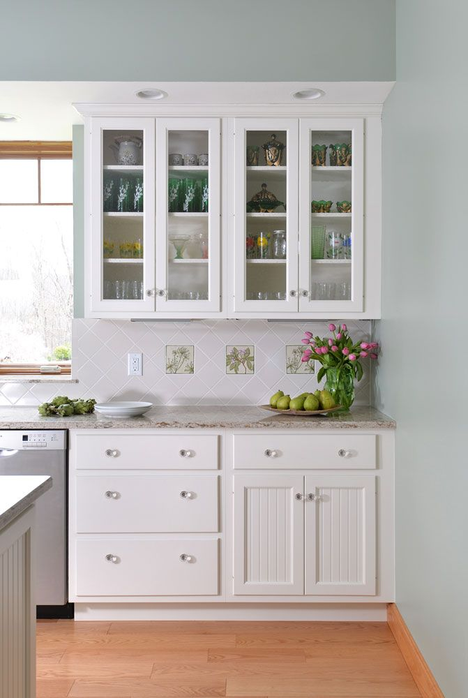 bar harbor doors on top and bottom tops with glass insert and slab drawer fronts kitchen on kitchen cabinets with glass doors on top id=95853