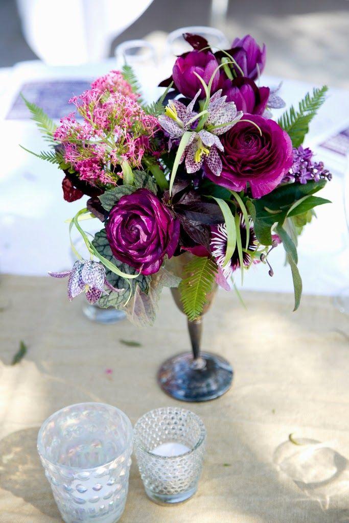 Very Pretty Purple Magenta And Lavender Arrangement Centerpieces