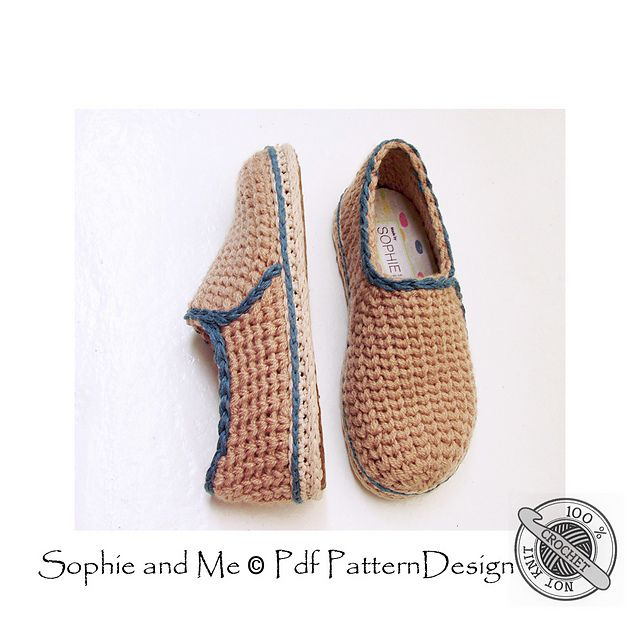c3b5ba41e9a859 Ravelry  Crochet-Knit Casual Slippers pattern by Sophie and Me-Ingunn  Santini