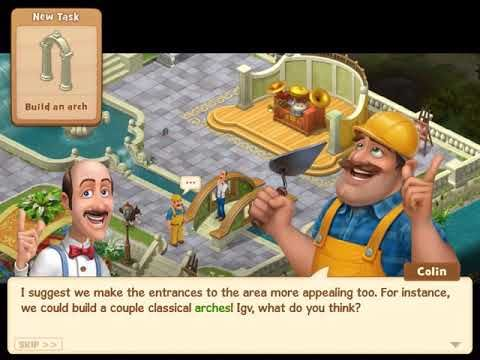 GARDENSCAPES NEW ACRES Gameplay Story Playthrough Area 6 Day 4 And Day 5  Waterfall #BUG6D