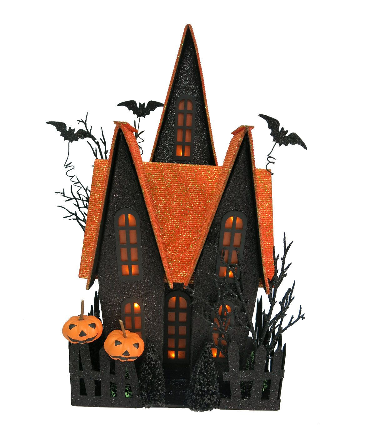 Ring in Halloween this season with eye-catching home decor accents - halloween houses decorated