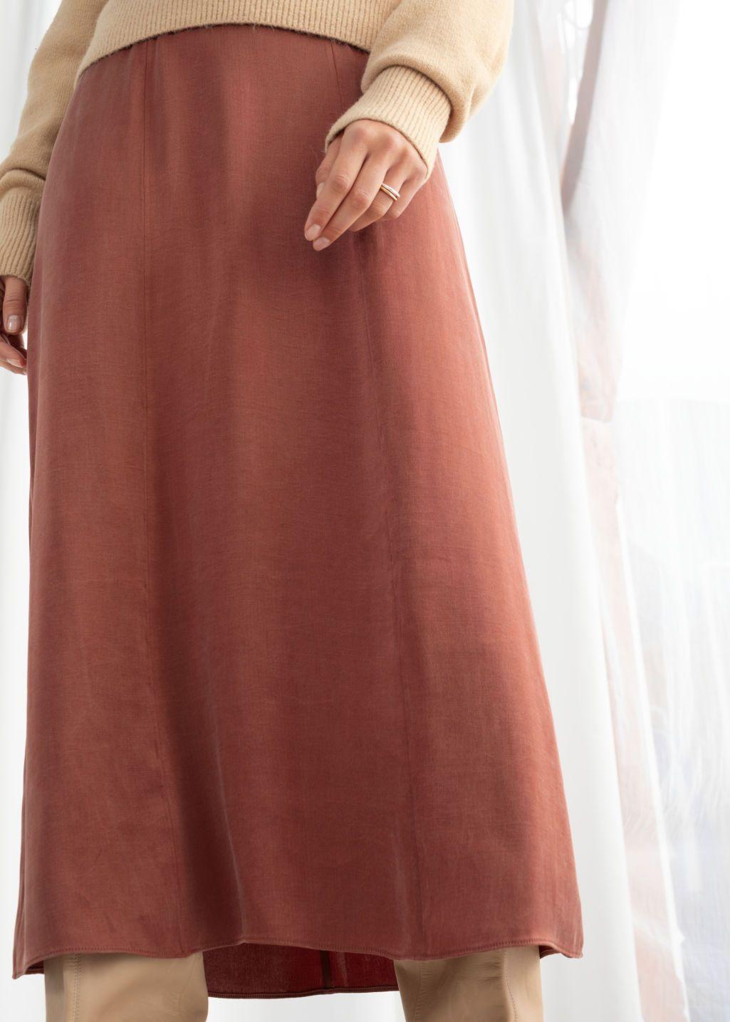 cde4c7e9e9 A-Line Midi Skirt - Rust - Midi skirts - & Other Stories | wishlist