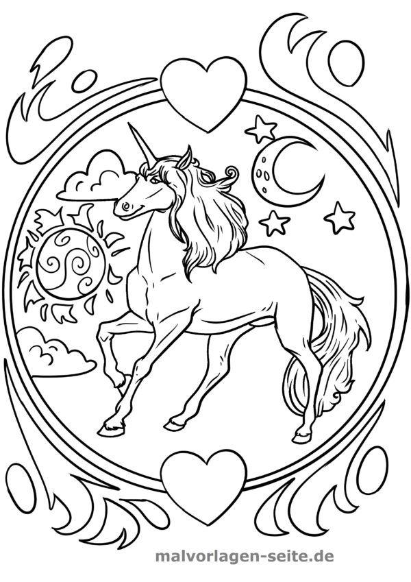 ausmalbilder einhörner  malvorlagen pferde ausmalbilder