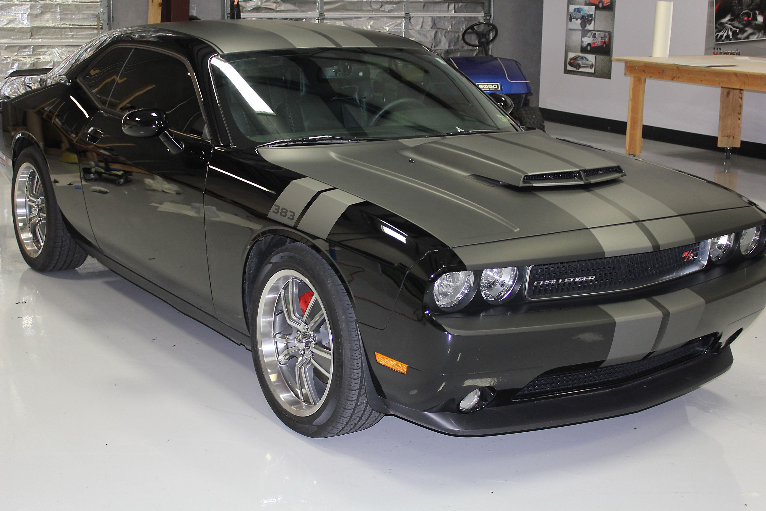 Custom car wraps black dodge charger car wrap vinyl