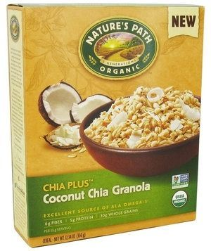 An organic cereal that's packed with omega-3–rich chia seeds and dried coconut. Plus, the oat base is mixed with airy puffed rice, so it won't leave you feeling weighed down.