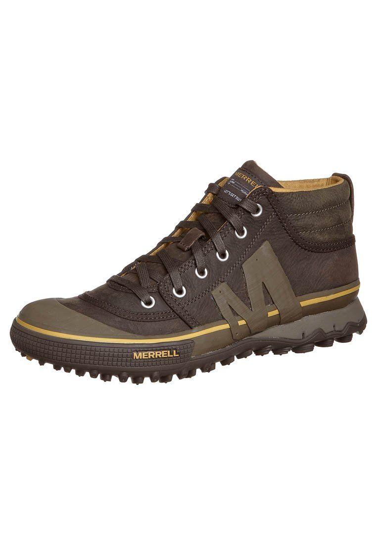 hot sale online 473e3 4e1c5 PRIMED LEATHER MID - Sneakers alte - espresso @ Zalando.it ...