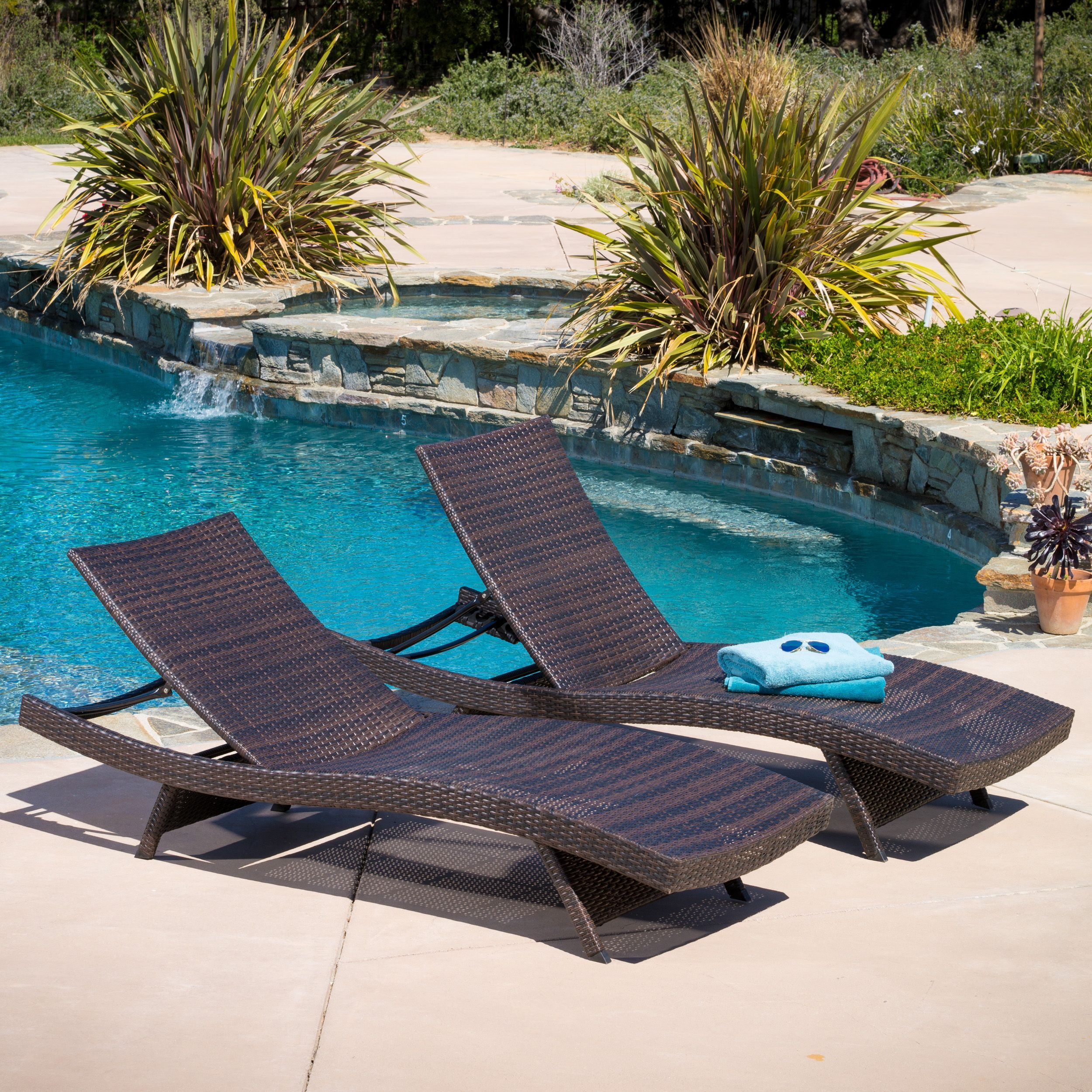 Outside Lounge Chairs Havenside Home Vilano Outdoor Lounge Chairs Set Of 2 Rancho