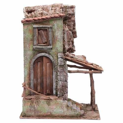 Casetta con portico e scale 40x30x20 presepe 12 cm | Casette, Case