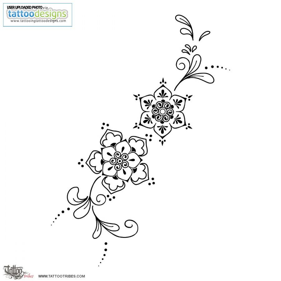 Mehndi Like Flowers Tattoo | Body mods | Pinterest | Patrones de ...