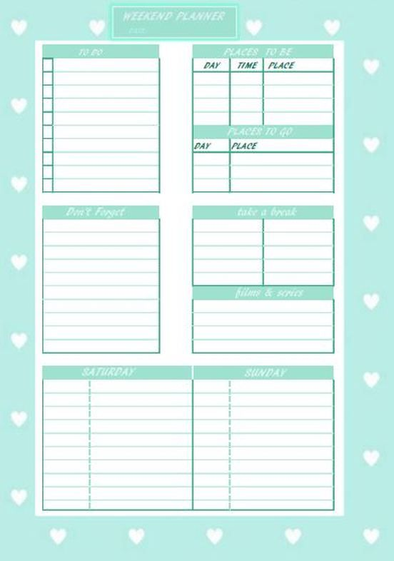 Cute weekendplanner to make the most of your weekend life - last will and testament form