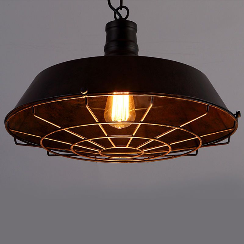 Vintage Metal Cage Edison Chandelier Pendant Light Ceiling Lamp Baycheer Rusticprimitive