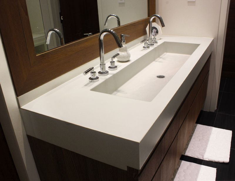 Picture Of Trough Sinks For Efficient Bathroom And Kitchen Ideas Custom Contemporary Bathroom Vanity Design Ideas