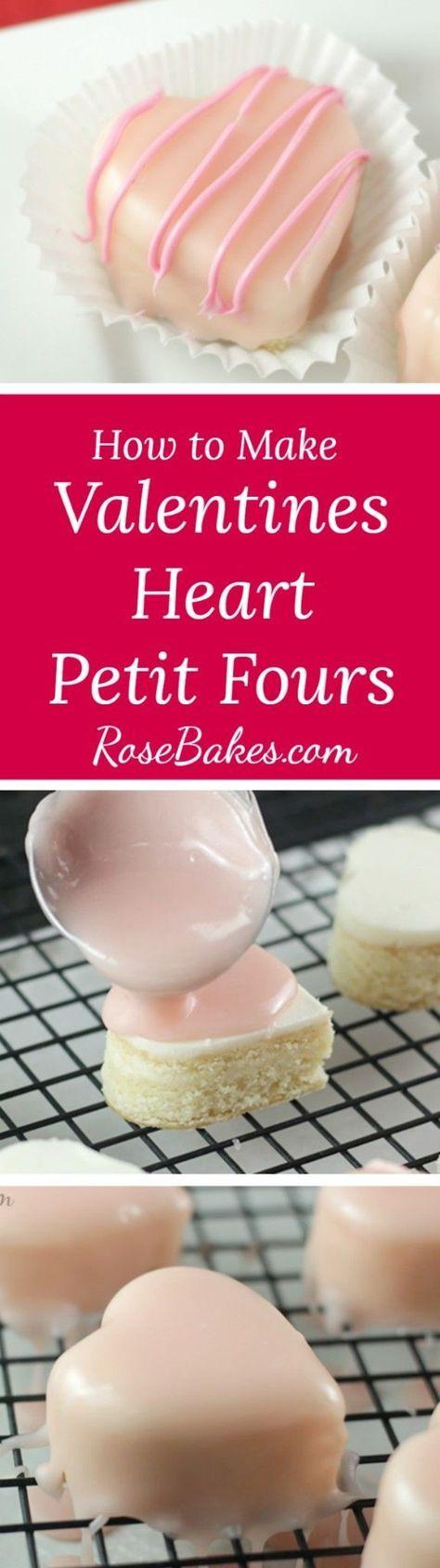 How to Make Valentines Heart Petit Fours RoseBakes