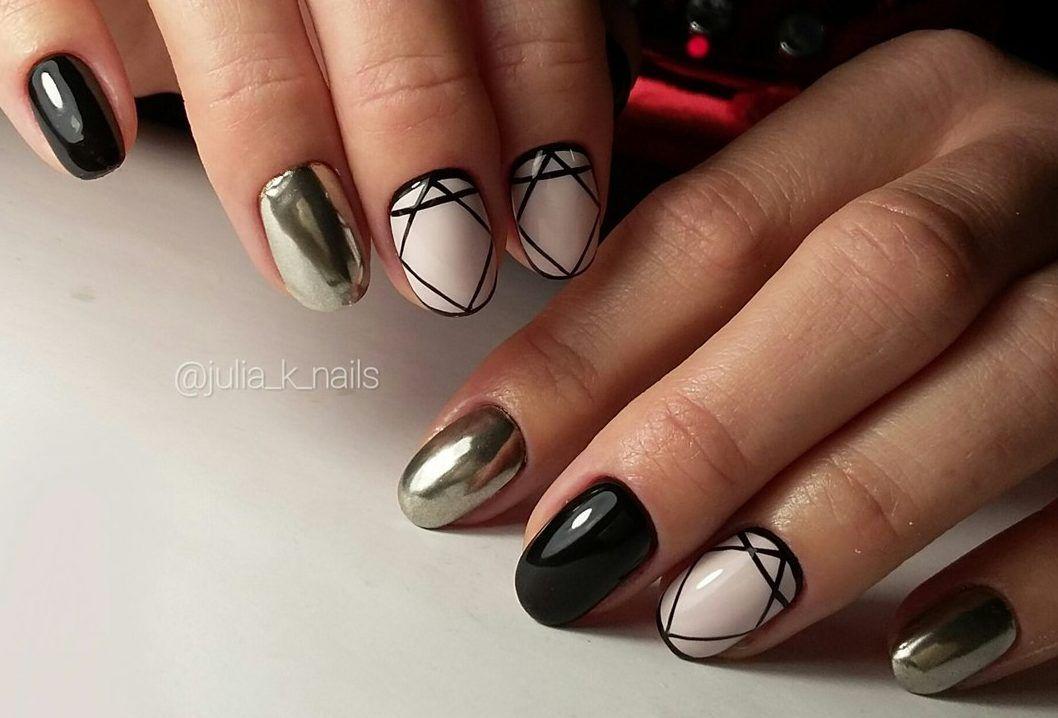 Nail Art #3708 - Best Nail Art Designs Gallery | Short nails, Mirror ...