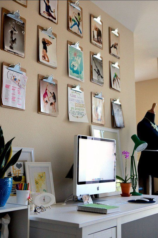 The Clipboard Art Trick U2014 Apartment Therapy (A Great Idea For The Studio/  Home Office)