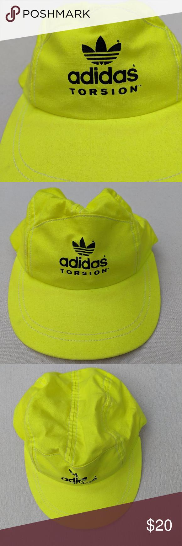 Vintage Adidas Torsion Hat Bright Yellow Vintage Adidas Torsion Hat In Bright Yellow Shows Some Light Staining At T Vintage Adidas Adidas Torsion Yellow Adidas