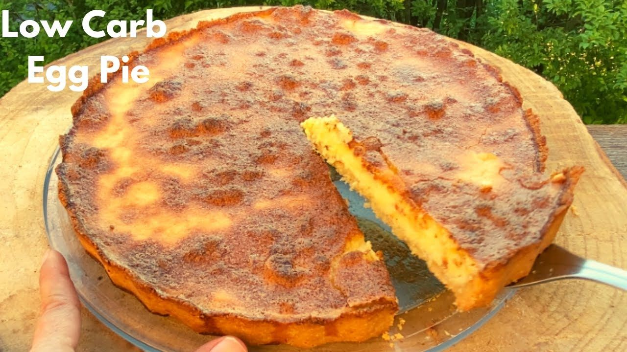 Soft Low Carb Egg Pie Interesting Video Recipe Note The Ingredient Lc Condensed Milk I Can T Find Anyt In 2020 Almond Milk Recipes Milk Recipes Low Carb Deserts