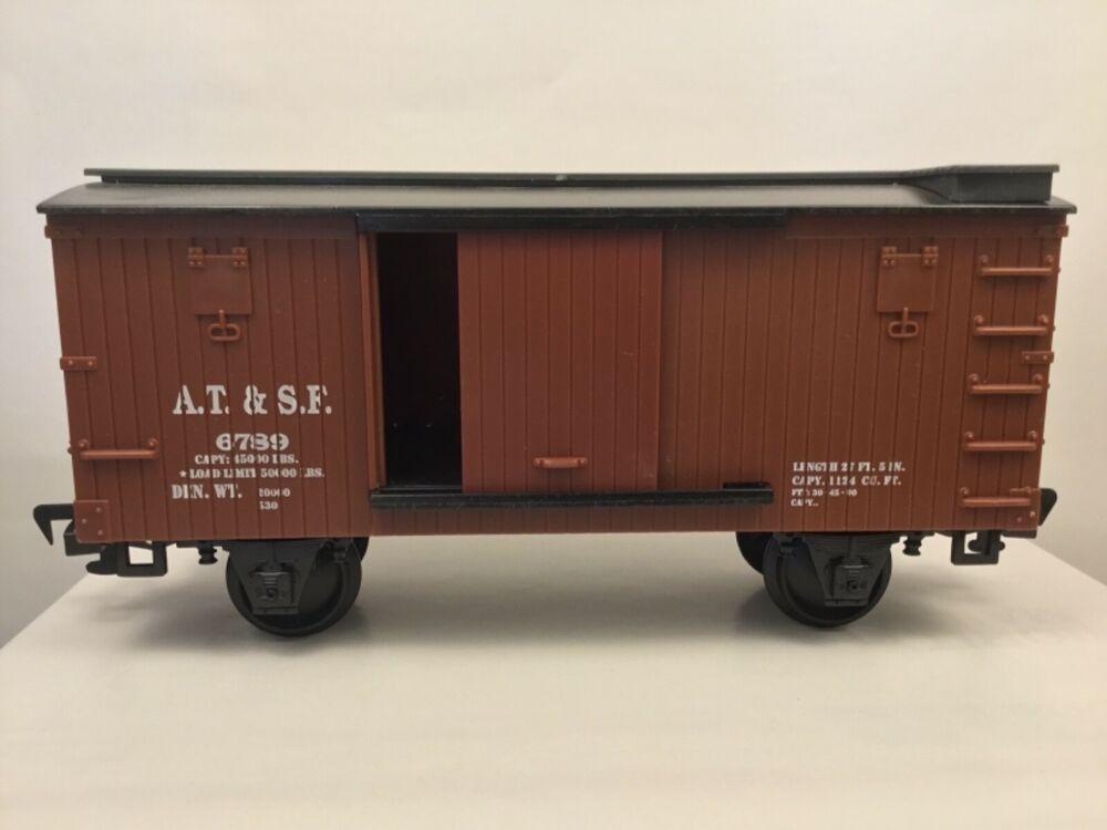 Eztec Scientific Toys G Scale Train Brown Box At Sf Car Sliding