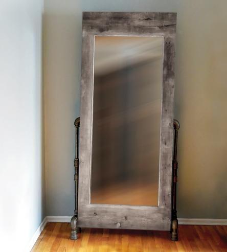 Grey Wash Wood Frame Mirror Wood Framed Mirror Rustic Mirrors Mirror Frames