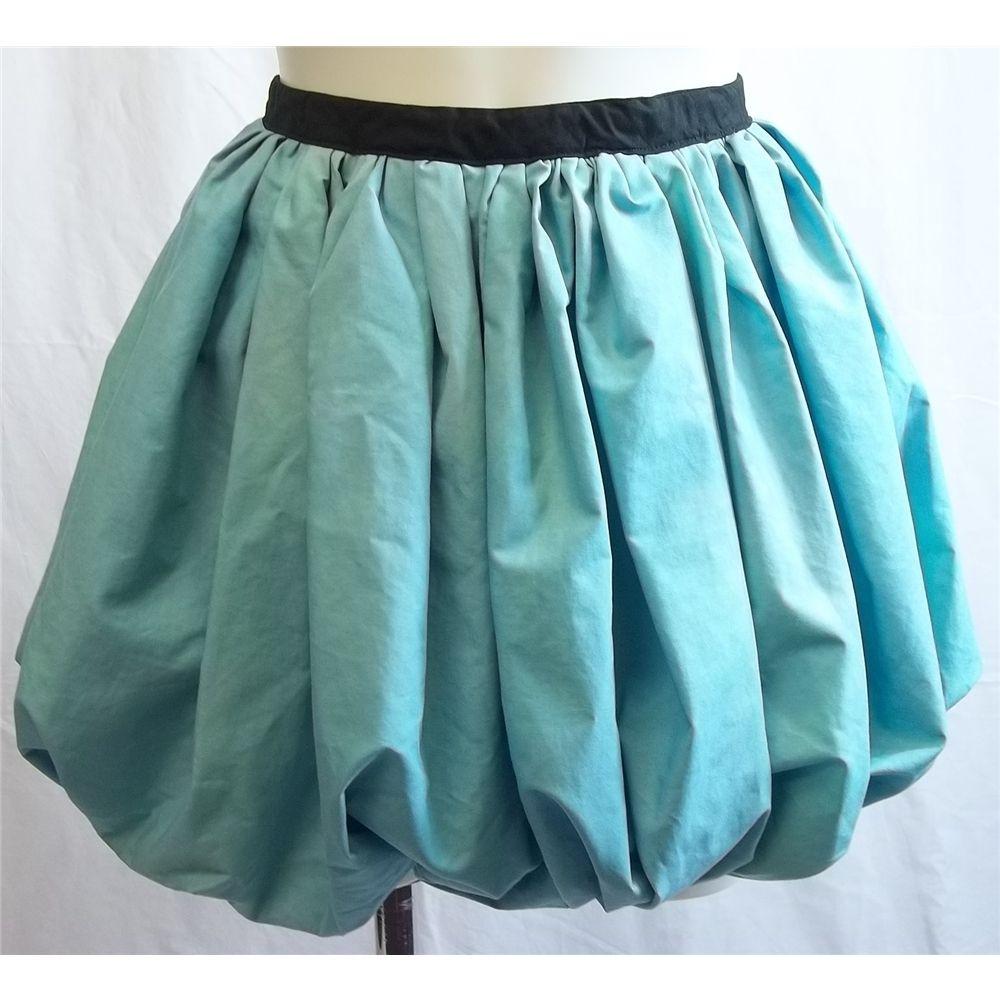 Reinvented handmade size 12 blue skirt Handmade - Blue - Puffball ...